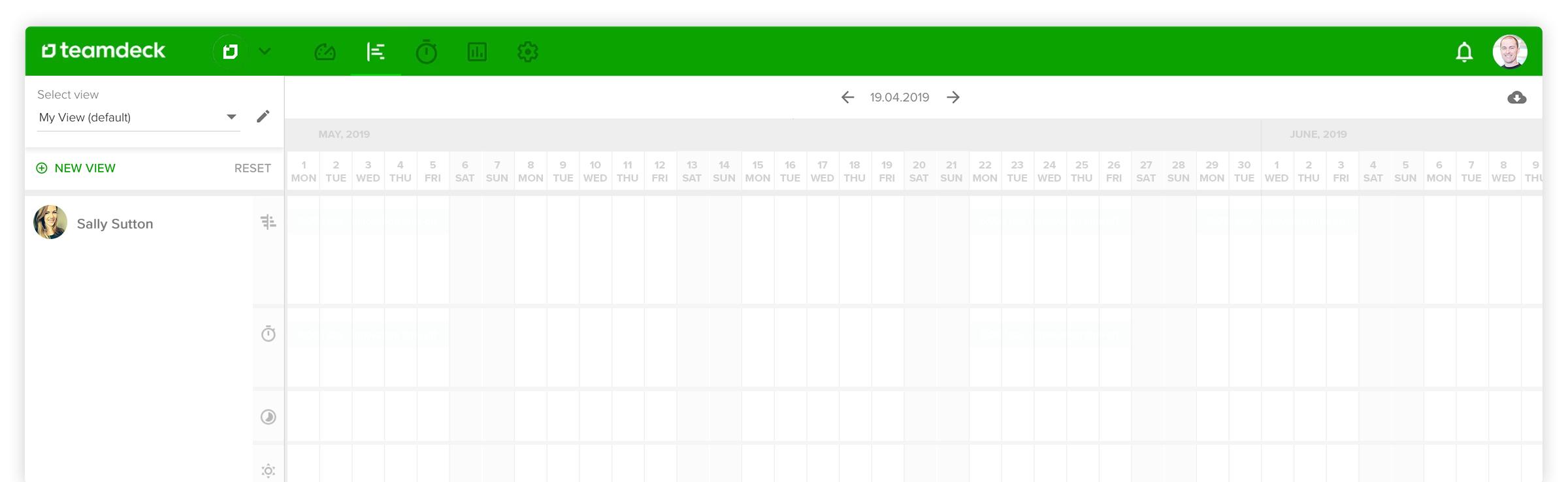 Teamdeck Calendar