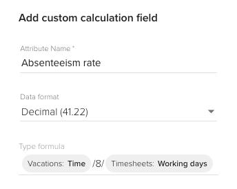 custom formula reports