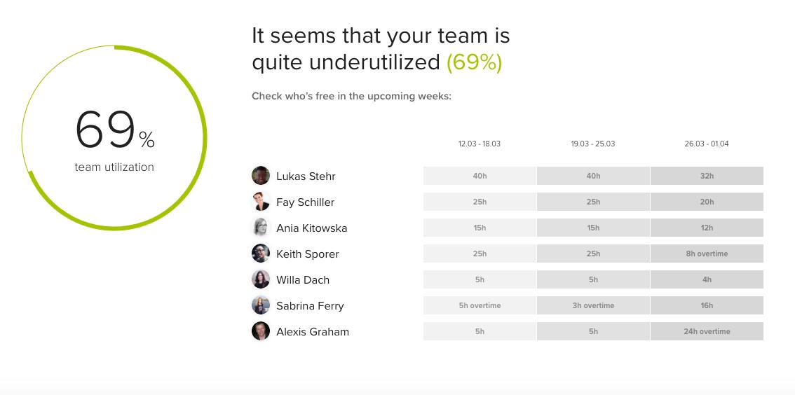 team utilization
