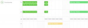 Resource scheduling calendar