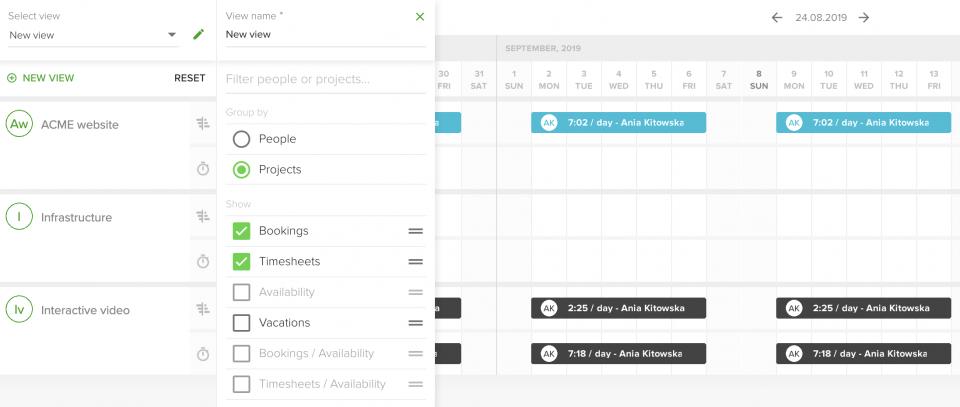 Set a custom calendar view