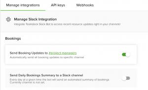 Manage Slack integration