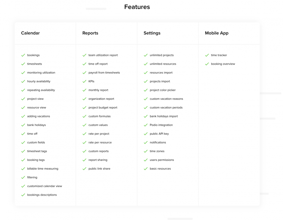 Teamdeck's features